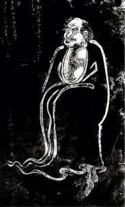 dipinto di Damo il principe indiano bodidharma, fondatore del buddismo Chan