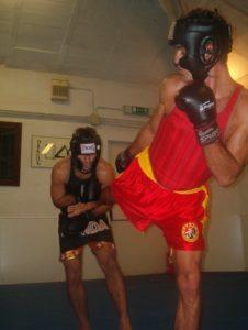 Enrico e Fabio in un combattimento di sanda